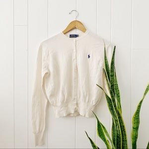 Polo Ralph Lauren Cream Button Cardigan